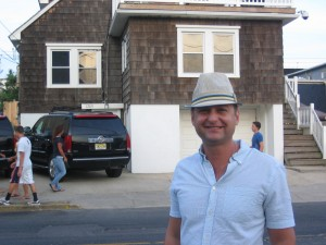 "In front of the ""Jersey Shore"" house"