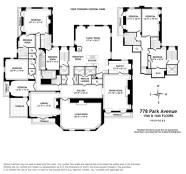 Floorplan for Brook Astor's home in New York City
