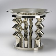 This 'Murmansk' sterling silver fruitbowl - a popular Memphis piece - recently sold for double the pre-sale estimate at Christie's auction house.