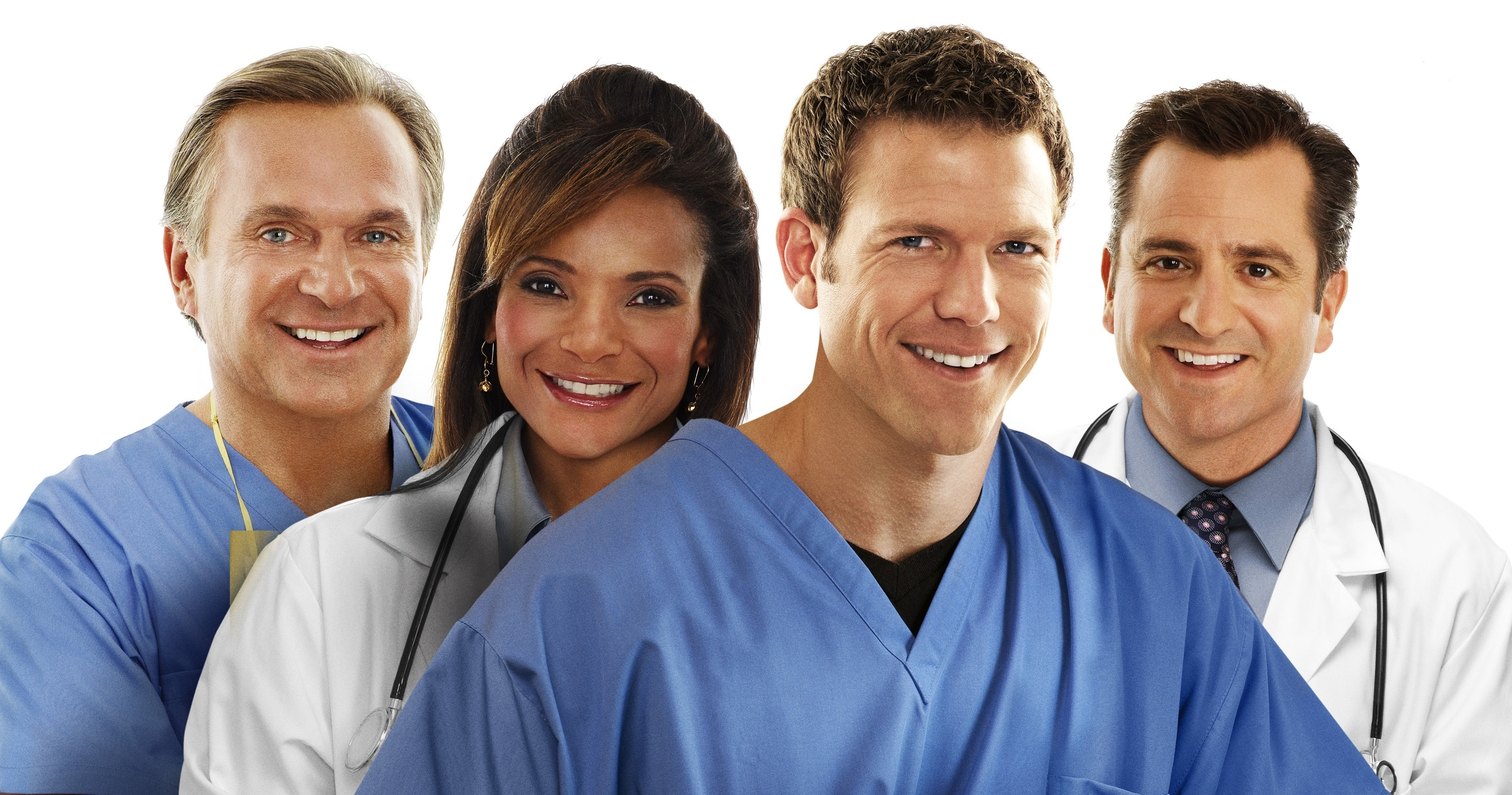 left to right: Dr. Jim Sears, Dr. Lisa Masterson, Dr. Travis Stork, Dr