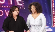 Rosie and Oprah stand on the first set of the Rosie Show, which is now moving to New York City.  TheBPlot predicted the move two weeks after the show launched last year.