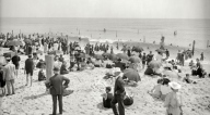 Asbury Park's north beach - photo circa 1905 - will be home to a Health and Wellness Initiative organized by Seresa Grillo.