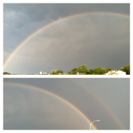 Seemingly on command, a full-arch rainbow appeared at the end of the 2012 Gay Pride celebration in Asbury Park.