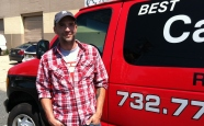 "The ""man behind the van,"" Dan Shotwell, owner of Best Carpet Cleaner in Town."