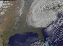 Sattellite view of Superstorm Sandy