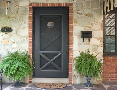 Stumpf crafted this front door and screen door for a home at the Jersey Shore.