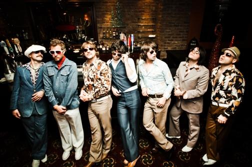 Tribute band Yacht Rock Revue returns to Wonder Bar.  Band members left to right:  David Freeman, Mark Cobb, Greg Lee, Peter Olson, Nicholas Niespodziani, Mark Dannells, Mark Bencuya.