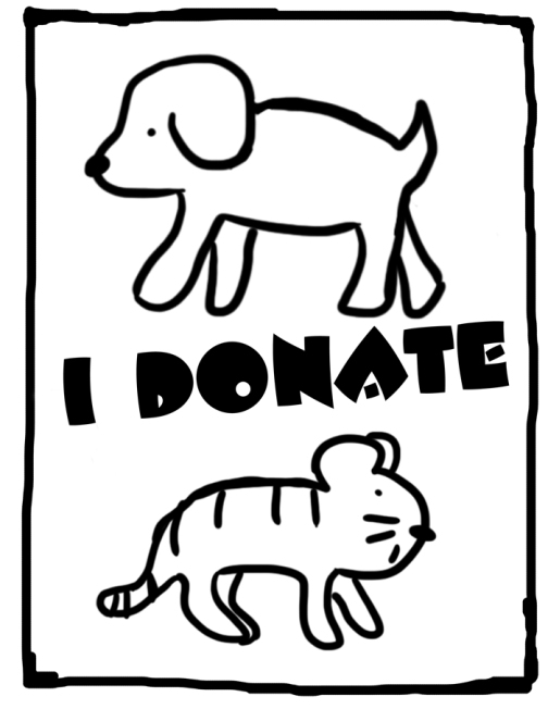 "Designed by the ultra-talented Dan Baum, look for this ""I Donate"" sign when shopping at the 40+ homes participating in Asbury Park's City-Wide Yard Sale, Saturday, May 4."