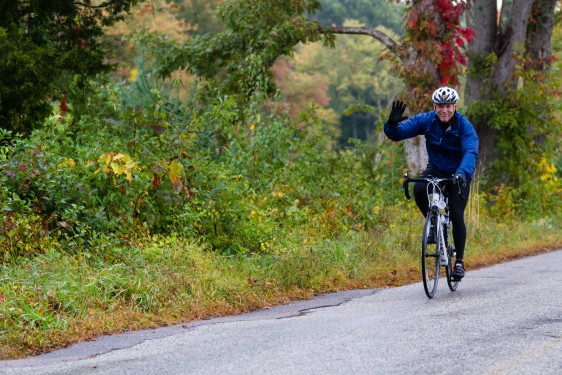 Rich Biletta in 2012, en route during the Braking AIDS Ride, benefitting Housing Works.  His second annual Whole Hog Pig Roast benefits the charity.  Photo courtesy Alan Barnett.