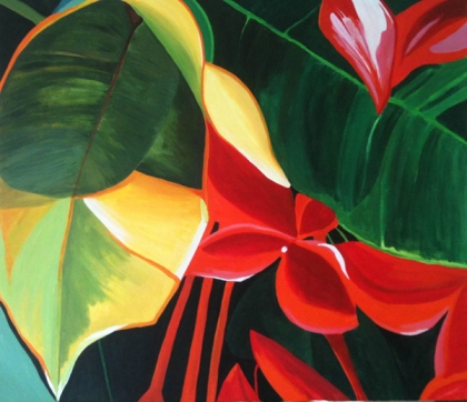 """A painting by Doris China, who many refer to as the """"Georgia O'Keefe of the Tropics.""""  Her life will be celebrated at a special exhibition at Art 629 on Cookman Avenue.  The opening is Saturday (Nov. 16) and the show runs until December."""