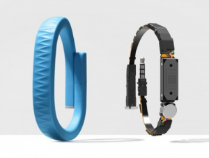 Inside the recommended Jawbone Up (not the Up 24, which draws too much of your device's power and has to be recharged every two days).