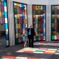 """""""ABSOLUTE FANTASY"""": LOCALS VISIT DANIEL BUREN'S ART INSTALLATION IN GUADALAJARA"""