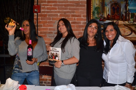 Big Ang Raiola with Jennifer, Lana and Renee Graziano hosted a dinner with fans at Brando's.