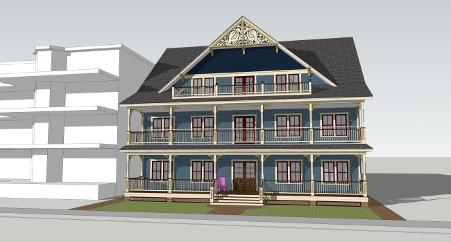Architectural rendering of the new Mary's Place by the Sea facility.  Construction begins at 24 Main Street in Ocean Grove in August.