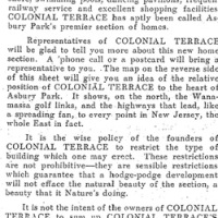 COLONIAL TERRACE LAUNCHES BRANDING INITIATIVE + A 1925 REAL ESTATE BROCHURE YOU HAVE TO SEE
