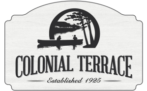 The new Colonial Terrace signs.  Design by Mike Castellana.