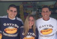 Gavin DeCapua with his two children, Kyle and Jenna.  DeCapua and his family have managed the concession stand at the Allenhurst Beach Club for 17 seasons.