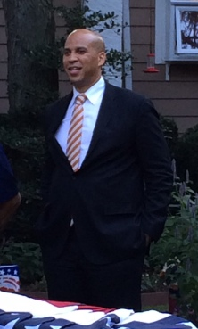 Senator Cory Booker inspired a crowd Friday at a private fundraiser.