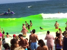 The ocean dye in Allenhurst, NJ attracted more than 2500 people this year.