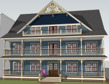 Architectural rendering of the future home of Mary's Place on Main Street in Ocean Grove.  Note, the design has changed slightly.