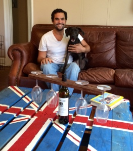 Brian and his rescue dog Gypsy make up Wood Vibrations Restorations, an upcycling