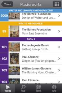Barnes Foundation app offers an audio tour of one of the world's most amazing collections of art.  Inspiring.