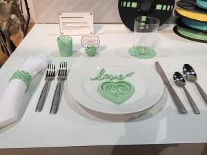 Martha Stewart unveiled tablescape accessories you can create with a 3D printer at the 2015 CES. Photo courtesy @intlCES