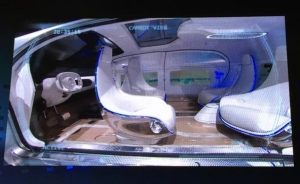 Mercedes-Benz car of the future emphasizes space, time and privacy featuring fully automated driving. Photo courtesy @intlCES