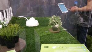 A robotic sprinkler from @DropletNews that waters your lawn based on the weather forecast.