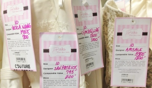Brides Against Breast Cancer trunk shows sell designer wedding dresses discounted up to 80 percent off retail, with $.78 of every dollar spent supporting cancer patients and their families.