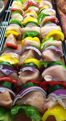 Antonio's butcher section features chicken and beef kabobs with house-made marinade.