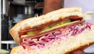Johnny Pork Roll's ruben sandwich is $8 at North Eats (Boardwalk at 7th Avenue in Asbury Park).