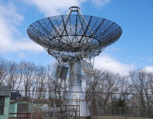 A portion of the proceeds from the Trail of Terror helped repair TIROS satellite dish. Photo courtesy Waymarking.com.