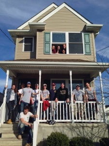 Students from Boston College came to Asbury Park as part of Coastal Habitat's Collegiate Challenge to help renovate a home earlier this month.