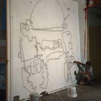 "ARTIST BRADLEY HOFFER DISCUSSES THE BACKSTORY OF ""CROBORAB #8"" MURAL COLORING THE WATERFRONT"