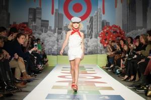 Violet Knobel on the runway for Target.