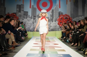 Violet Knobel on the runway for Target.