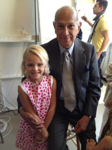 Violet Knobel with Oscar de la Renta four years ago.
