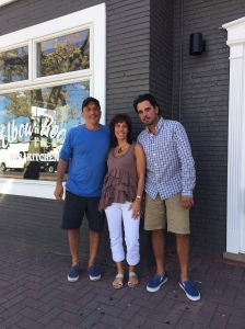 Dino Fornicola, Madelyn Snow and Jay Vacchiano, co-owners of the Elbow Room bar and kitchen in Bradley Beach, which will be opening in early October.