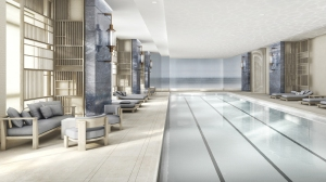 The Four Seasons Downtown pool - a true luxury for any New York City property and a rarity for a hotel.