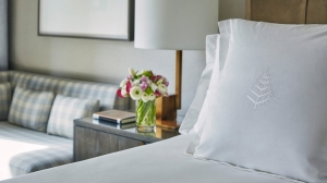 The incomparable Four Seasons Downtown bed.