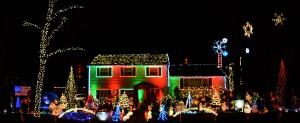 The holiday light display at 8 Timber Drive in Ocean is designed and implemented by Shane MacCary. It takes him weeks to install and sync the lights to eight songs..